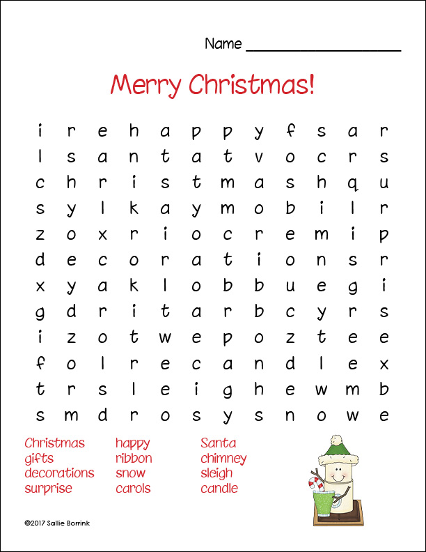 graphic regarding Printable Christmas Word Search called Free of charge Printable Xmas Term Lookups - A Relaxed Very simple Everyday living