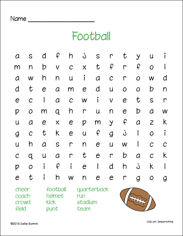Football Word Search