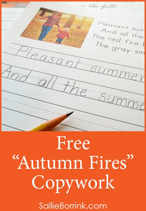 Free Autumn Fires Copywork