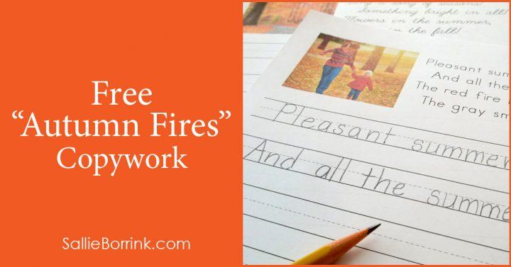 Free Autumn Fires Copywork 2