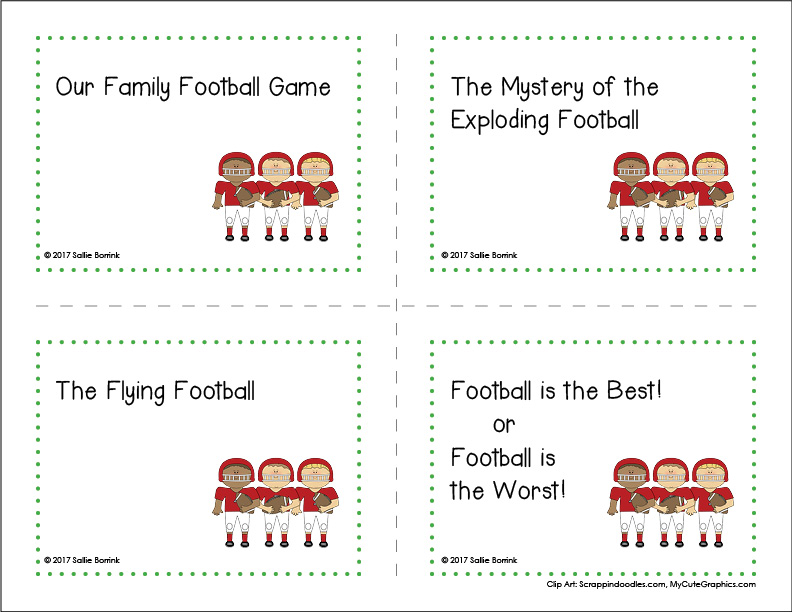 Football Writing Prompts page 4