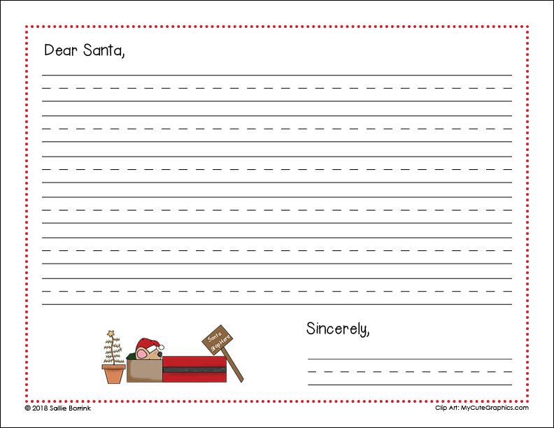 Free Letter to Santa Printable 1