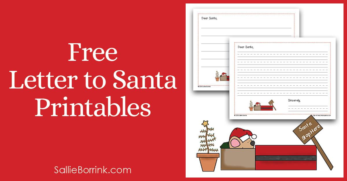 Free Letter to Santa Printable 2