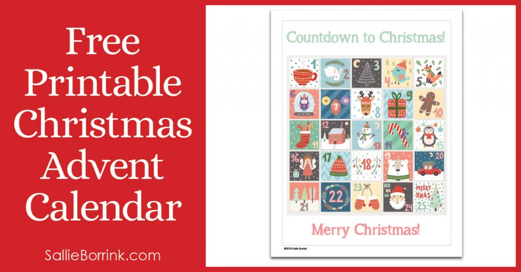 image regarding Advent Calendar Printable named No cost Printable Xmas Introduction Calendar - A Relaxed Easy