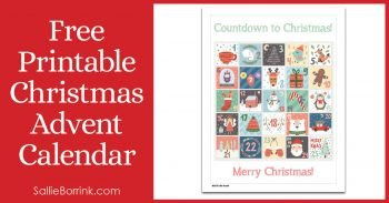 Free Printable Christmas Advent Calendar Pin 2