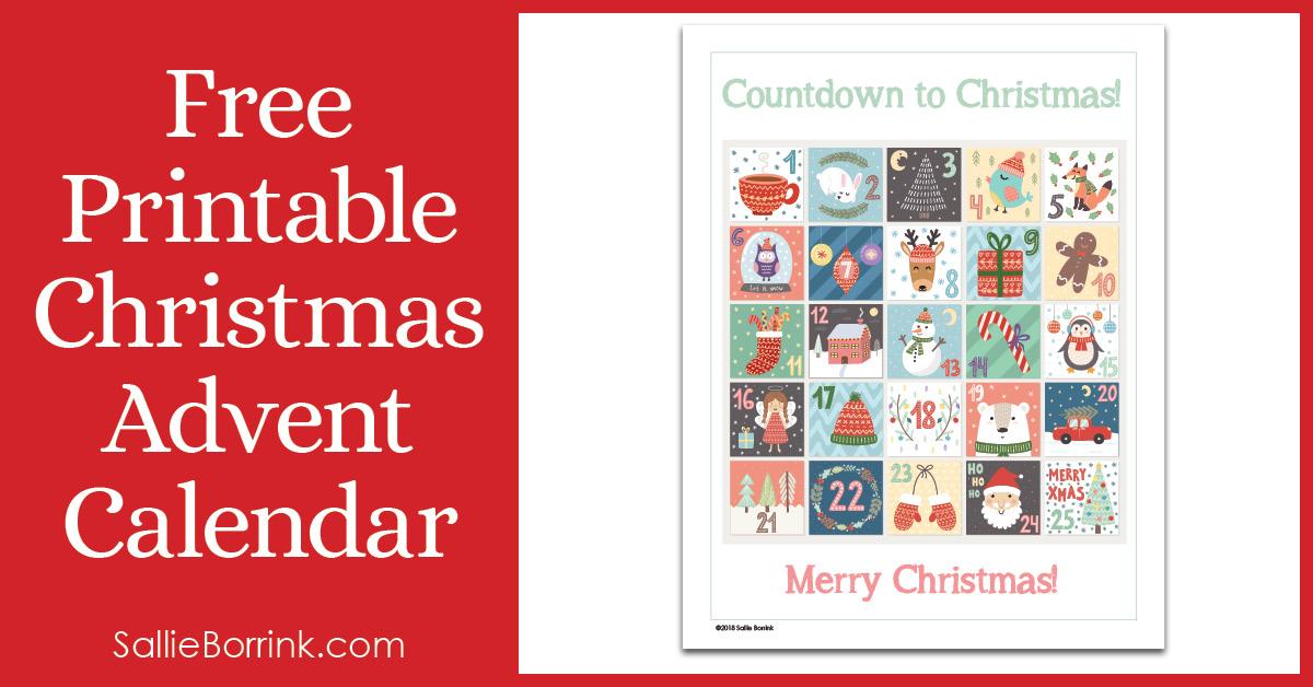Free Printable Christmas Advent Calendar Pin 2