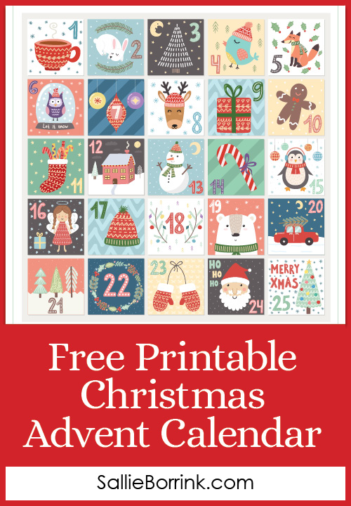 Free Printable Christmas Advent Calendar pin
