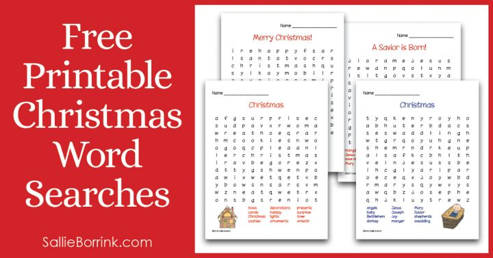 Free Printable Christmas Word Searches 2