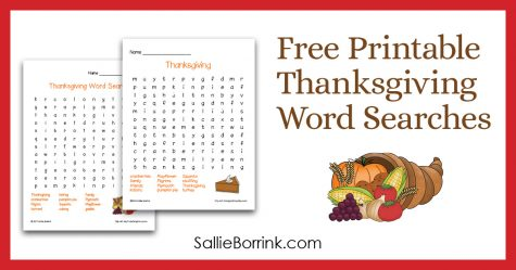 Free Printable Thanksgiving Word Searches 2