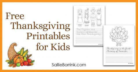Free Thanksgiving Printables for Kids 4