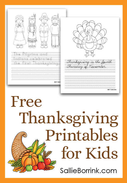 Free Thanksgiving Printables for Kids 5