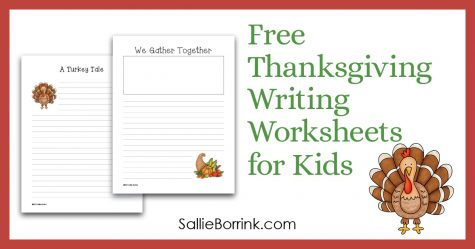 Free Thanksgiving Writing Worksheets for Kids 2