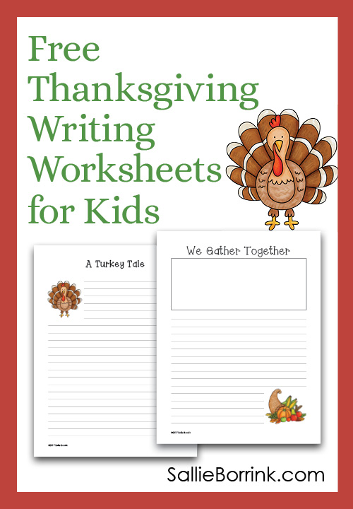 Free Thanksgiving Writing Worksheets for Kids