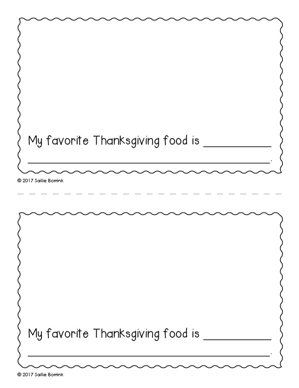 My Thanksgiving Celebration Little Book page 6