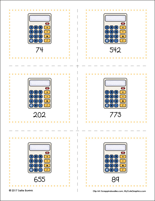 Number Ordering Activity page 5