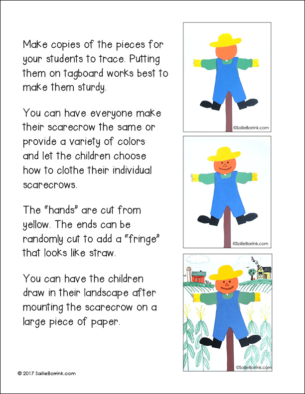 Free Scarecrow Craft page 1