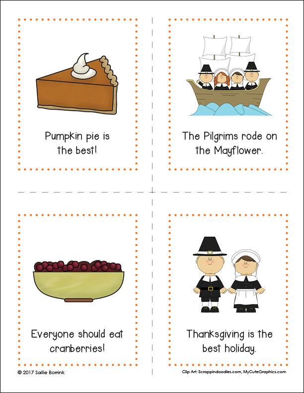Thanksgiving Fact or Opinion Cards 1