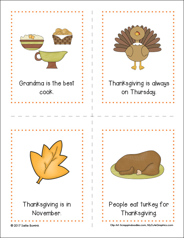 Thanksgiving Fact or Opinion Cards 2