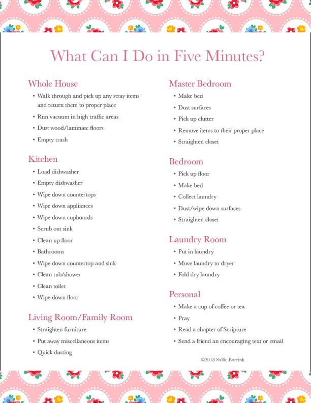 Homemaking Challenge