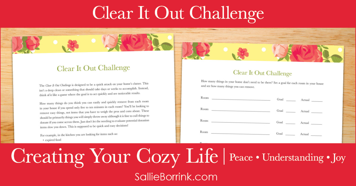 Clear It Out Challenge - Creating Your Cozy Life Planner 2