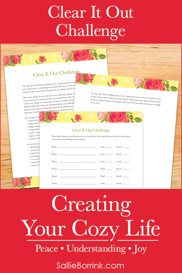 Clear It Out Challenge - Creating Your Cozy Life Planner