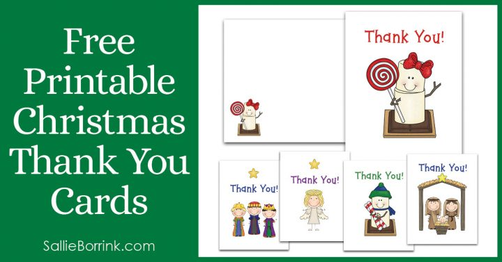 Free Printable Christmas Thank You Cards 2