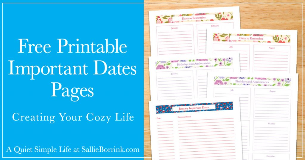 graphic regarding Printable Dates named Absolutely free Printable Considerable Dates Internet pages - A Tranquil Easy Existence
