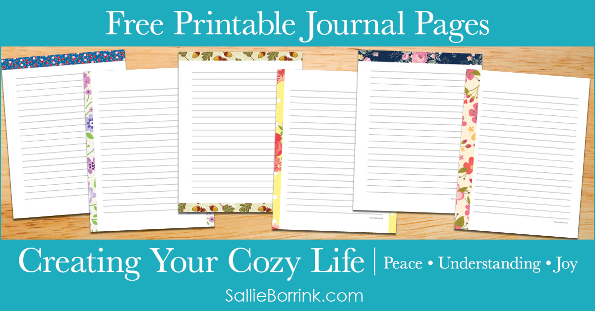 Free Printable Journal Pages - Creating Your Cozy Life Planner 2