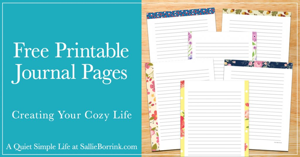 photograph about Printable Journals called Free of charge Printable Magazine Web pages - A Tranquil Basic Daily life with