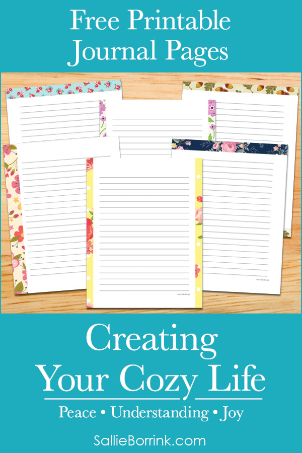 Free Printable Journal Pages - Creating Your Cozy Life Planner