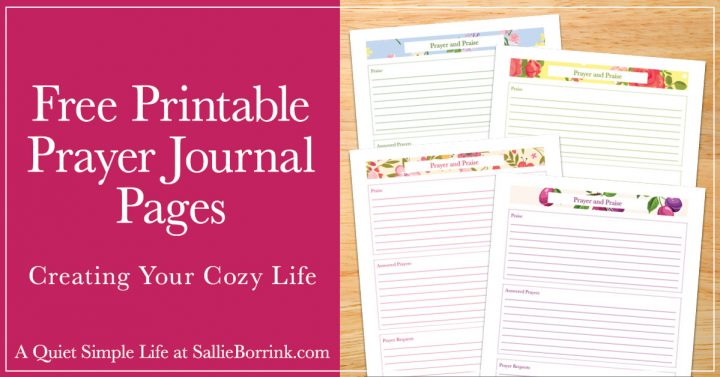 Free Printable Prayer Journal Pages A Quiet Simple Life