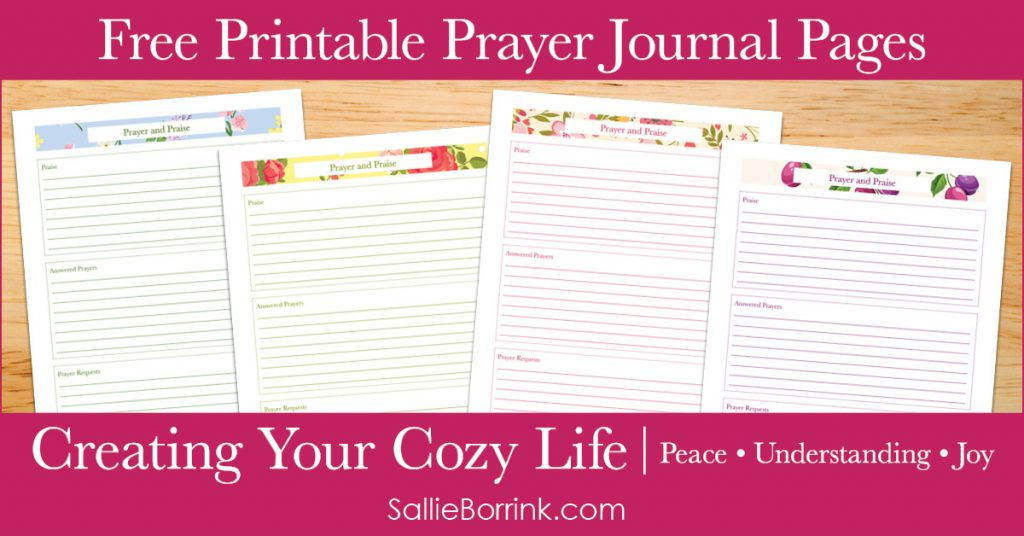 Free Printable Prayer Journal Pages - Creating Your Cozy Life Planner 2