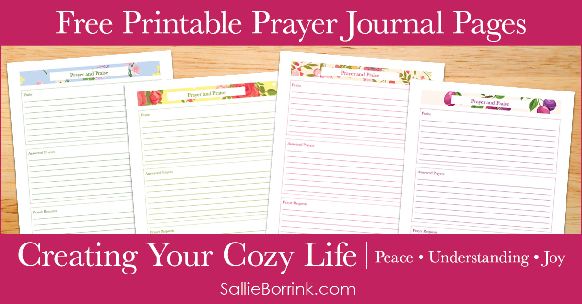 Clean image within free printable prayer journal