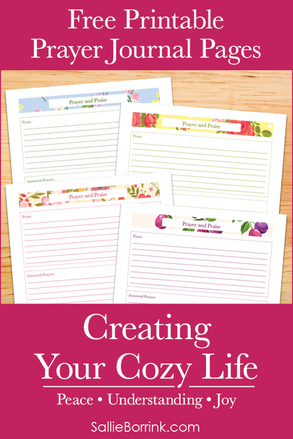 Free Printable Prayer Journal Pages - Creating Your Cozy Life Planner