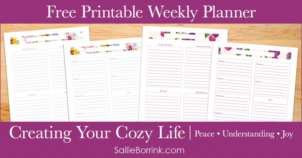 Free Printable Weekly Planner - Creating Your Cozy Life Planner 2