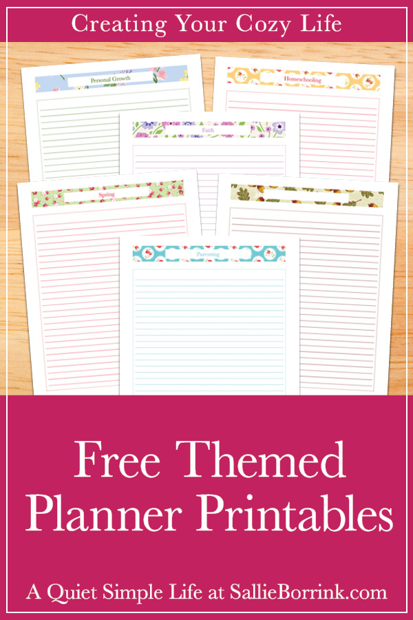photo relating to Free Personal Planner Printables named Cost-free Themed Planner Printables - A Calm Very simple Everyday living with