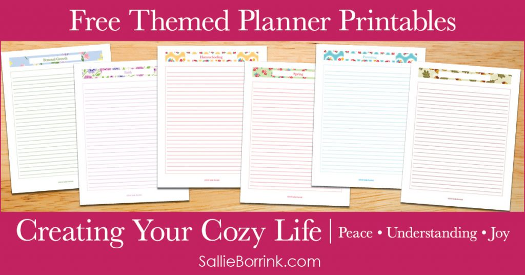 Free Themed Planner Printables - Creating Your Cozy Life Planner 2