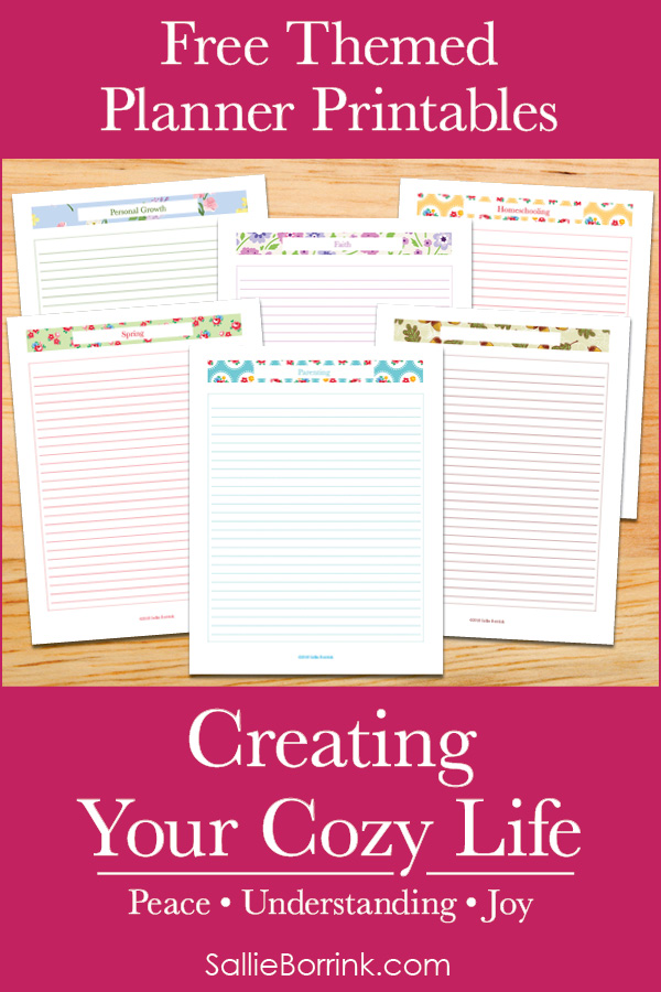 Free Themed Planner Printables - Creating Your Cozy Life Planner