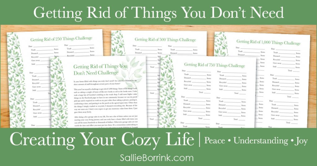 Getting Rid of Things You Don't Need Challenge - Creating Your Cozy Life Planner 2
