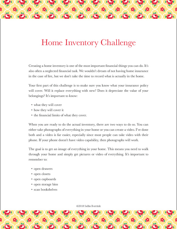 Home Inventory Challenge