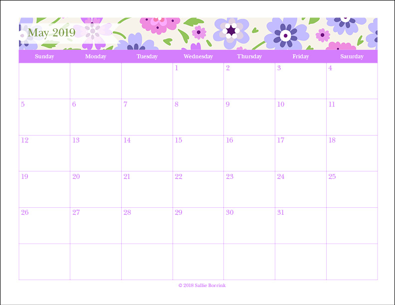 photo about Printable Monthly Calendars named Totally free Printable Month-to-month Calendars 2019-2020 - A Relaxed