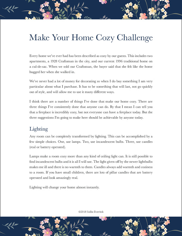 Make Your Home Cozy 1