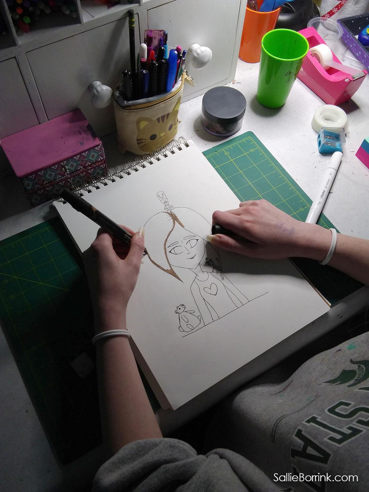 Furry Friends Art Lesson Sketch 3