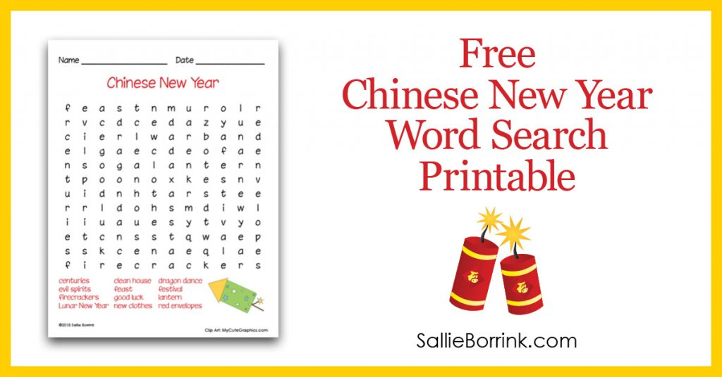 Free Chinese New Year Word Search Printable Pin 2