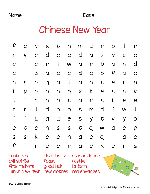 graphic relating to New Years Word Search Printable identify Absolutely free Chinese Fresh 12 months Term Look - A Calm Straightforward Everyday living with