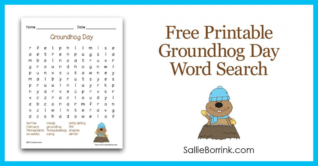 Free Printable Groundhog Day Word Search 2