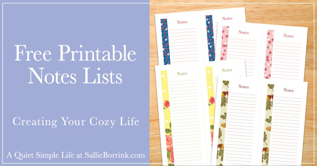 picture about Printable Lists titled Totally free Printable Notes Lists - A Tranquil Basic Everyday living with Sallie