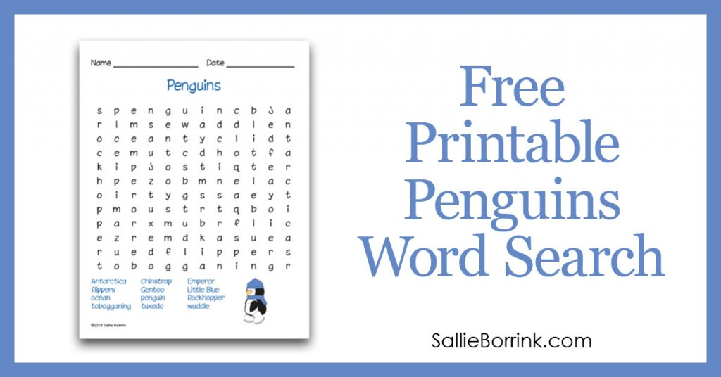 Free Printable Penguins Word Search 2