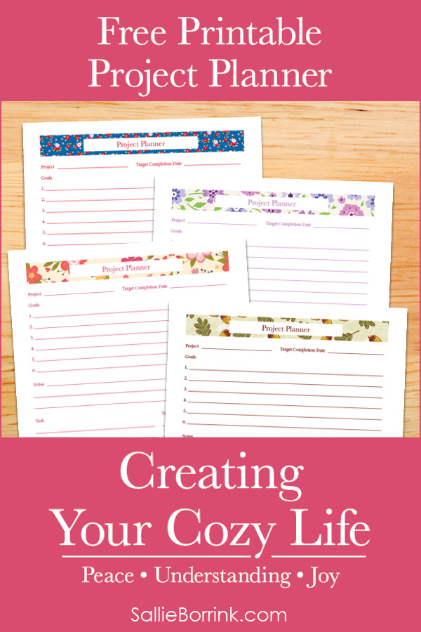 Free Printable Project Planner - Creating Your Cozy Life Planner