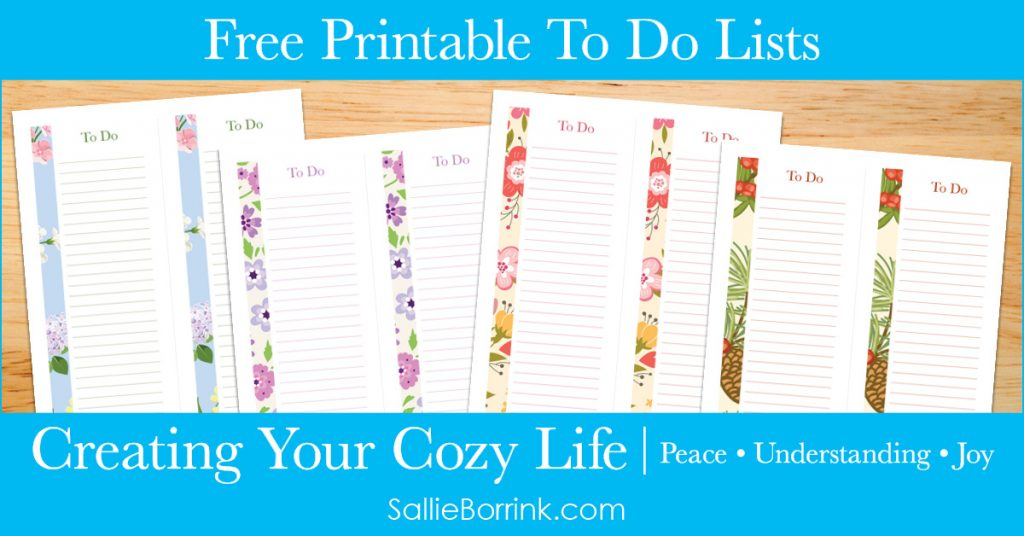 Free Printable To Do Lists - Creating Your Cozy Life Planner 2